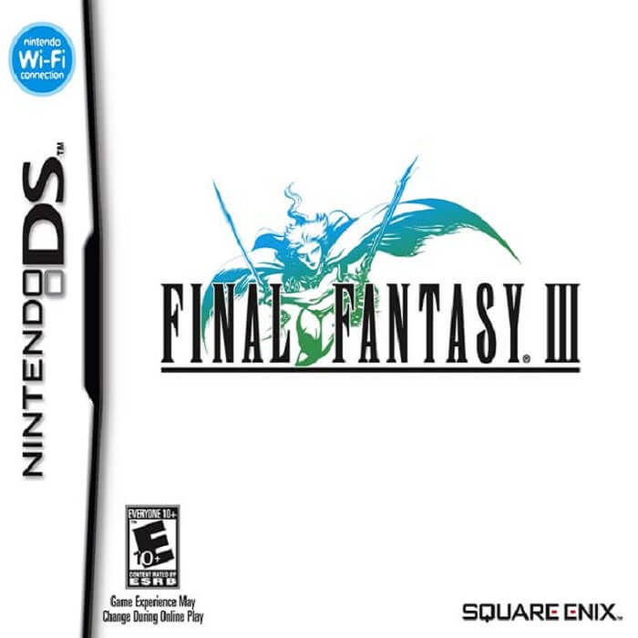 Final Fantasy III USA Original Second Nintendo DS